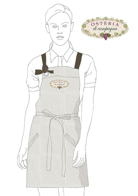 корпоративная одежда эскиз фартуков для официантов