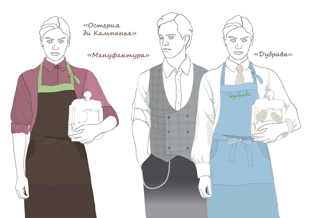 форма официантов ресторанов и кафе